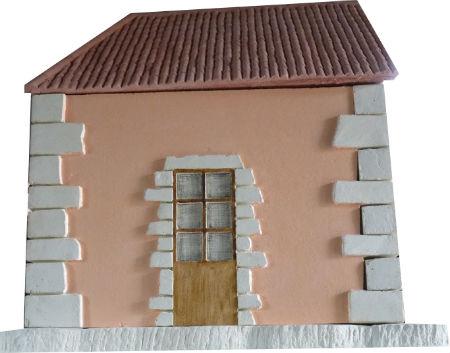 mur orange et toit canals